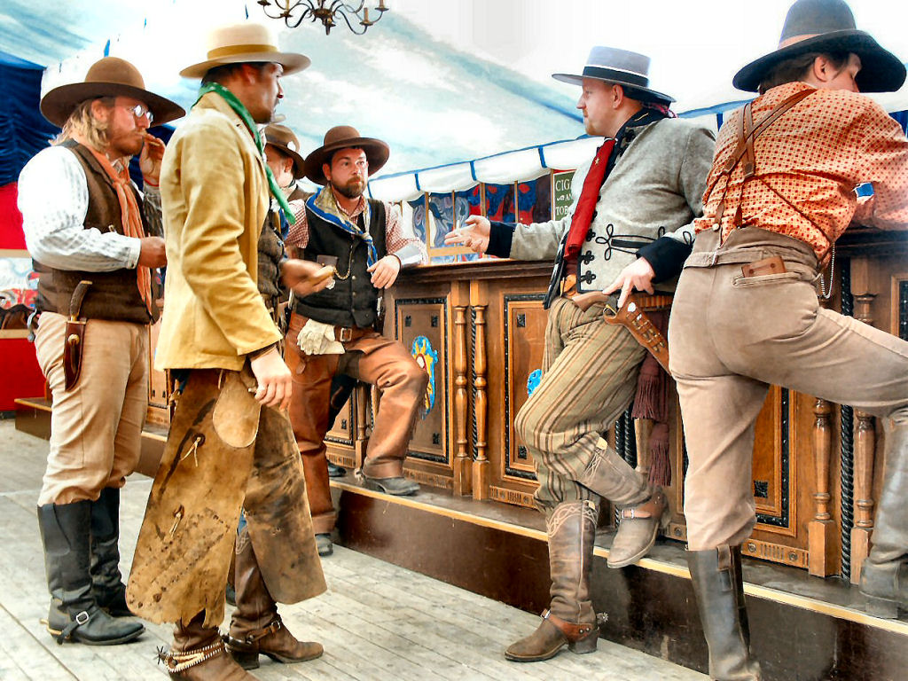 Cowboys in the Saloon